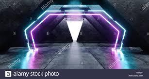 Light Tunnel B Q Futuristic Background Grunge Concrete Bright Underground