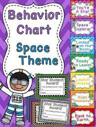 Space Theme Classroom Behavior Chart