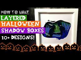 Halloween svg shadow box 3d, layered svg file for cricut, paper cut light bo. Easy Diy Halloween Countdown Cubes Free Svg Hcc01 Youtube