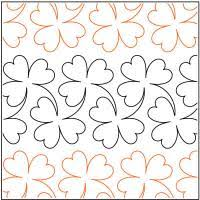Clover quilting pantograph pattern by Lorien Quilting &  Adamdwight.com