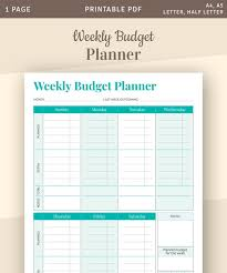 Weekly Budget Planner Template Family Budget Printable Budget Weekly Expenses Budget Worksheet Money Tracker Printable Pdf
