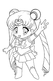 Small Picture Kids Anime Girl Coloring Pages To Print Cartoon Coloring pages