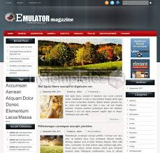Wordpress Website Templates Classy Free Templates WordPress Themes Magazine Emulator