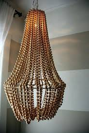 wood bead chandelier a plain chandelier into a beaded showpiece wood bead chandelier diy