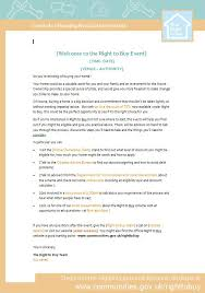 event welcome letter template