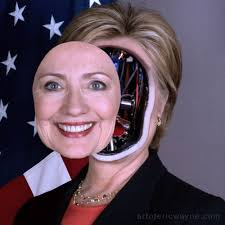 Image result for trump clinton cyborg