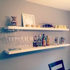 mug shelf ikea inspirational easy diy bar using 20 ikea shelves via