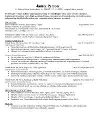 Veteran Resume Examples Resume Resume Template Highlighting Education Unique
