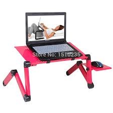 multi functional ergonomic foldable laptop table for bed stand e table portable laptop stand with 2 usb cooler and mouse pad in lapdesks from computer