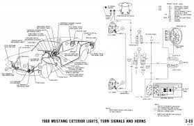 mustang wiring diagrams and vacuum schematics average joe 1968 mustang wiring diagram exterior lights turn signals