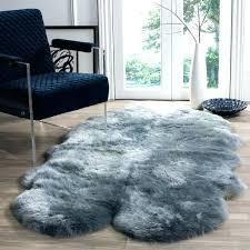faux sheepskin rug 4x6 prairie natural pelt sheepskin wool steel blue rug faux 4 x