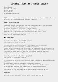 Preschool Teacher Resume Objective Examples Criminal Justice Resume Objective Examples Elementary School 17