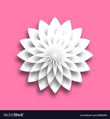 Paper Lotus Flower White Paper Lotus Blossom Design Element With 3d