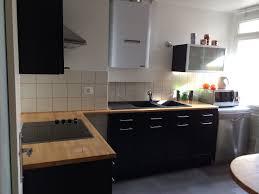 Chambre Cuisine Bois Plan De Travail Noir Cuisine Noir Laque Plan