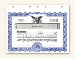 Shareholder Certificate Template Template For Corporate Stock Certificate Corporation Stock