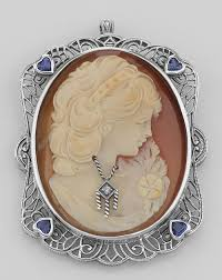 lot 20161745 italian handcarved cameo pin pendant w sterling silver filigree frame papps98102