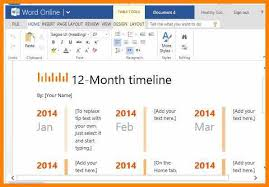 One Year Timeline Template One Year Timeline Maker Template For Word Adstime Us