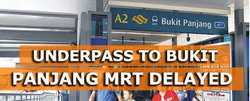 a new underp that will give residents in surrounding hdb blocks fully sheltered access to bukit panjang mrt station will be dela owing to difficult