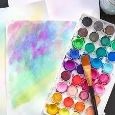 Make Watercolor Art Paper plus Free Printables - 100 Directions