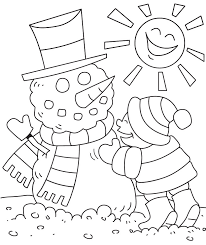 Small Picture Super Cute winter non christmas coloring pages Teaching
