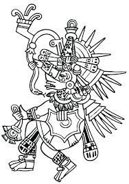 Mayan Coloring Pages Masks Mayan Calendar Colouring Page Oganaijacom