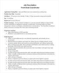 front desk job description for resume of front desk job pretty front desk job marvelous resume front desk job description