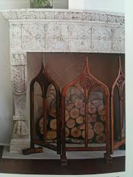 gothic fireplace screen