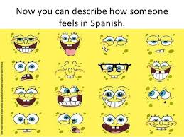 Spanish Feelings Chart Expressing Feelings Using Estar