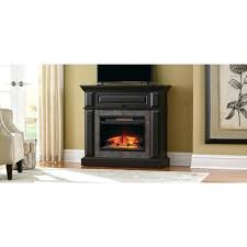 full image for free standing electric fireplace with mantel mantle aged black home decorators collection freestanding
