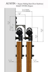 Our rustic style AUSTIN bypass sliding barn door hardware will ...