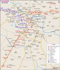 Lucknow Metro Map Routes Metro Stations