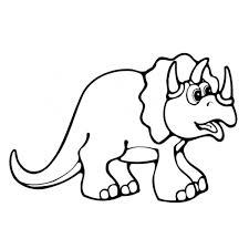 Disegno Di Piccolo Triceratopo Da Colorare Per Bambini