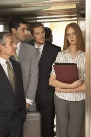 is the elevator speech dead family before fortune three businessmen looking at a businessw standing in an elevator