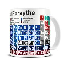 personalized periodic table of chemical elements mug chemistry gifts for scientists science gift periodic table mug mg096