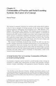 learning theories essay best images about theories the social  communities of practice and social learning systems the career of social learning systems and communities of psychoanalytic theory essay