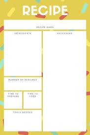 Recipe Paper Template Customize 764 Recipe Cards Templates Online Canva