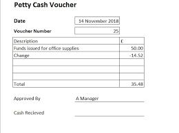 Free Petty Cash Voucher Template Excel Petty Cash Voucher