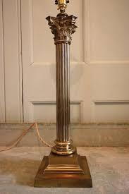 edwardian antique corinthian brass table lamp