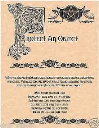 to protect an object book of shadows spell