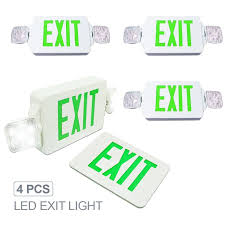 17 best ideas about emergency exit signs exit sign etoplighting 4 pack led exit sign emergency light angle adjustable side light
