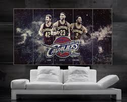 lebron james king james cartel cleveland cavaliers wall art print 10 piezas gigante enorme del arte on cleveland cavaliers wall art with lebron james king james cartel cleveland cavaliers wall art print 10