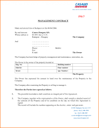 Property Management Contract Letter Template Word Invoice Free ...