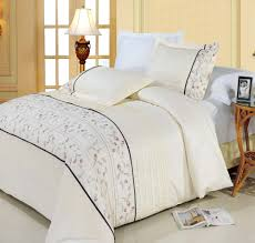 anna ivory king cal king duvet cover set 100 egyptian cotton 300 thread count embroidered 3pc duvet set