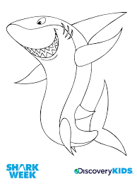 Small Picture Happy Shark Coloring Page Discovery Kids
