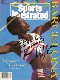 「1992 Jackie Joyner-Kersee becomes the first woman ever to win two consecutive Olympic gold medals in the heptathlon.」の画像検索結果