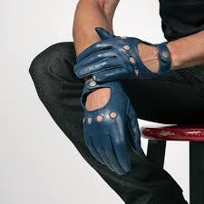 bullitt antique blue leather gloves