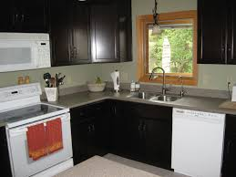 wonderful l shaped kitchen with island. Corner Black And White Cabinet With Gray Top Sink Combined Glass Window On The Wonderful L Shaped Kitchen Island K