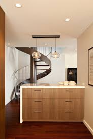 cool stairs design and layout for small spaces with recessed light and drawers