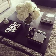 table styling coffee table