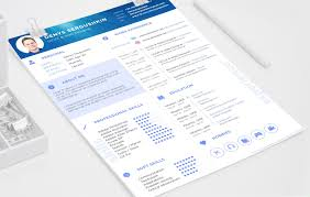 Resume Template Cute Templates Creative Download Free Psd With
